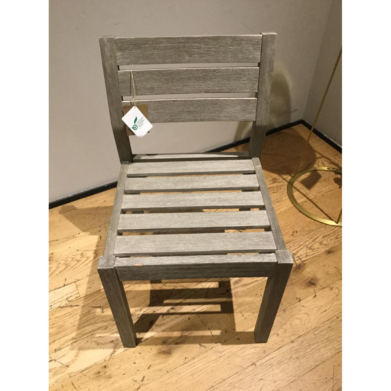 West Elm Portside Dining Chair in Weathered Gray - image-2
