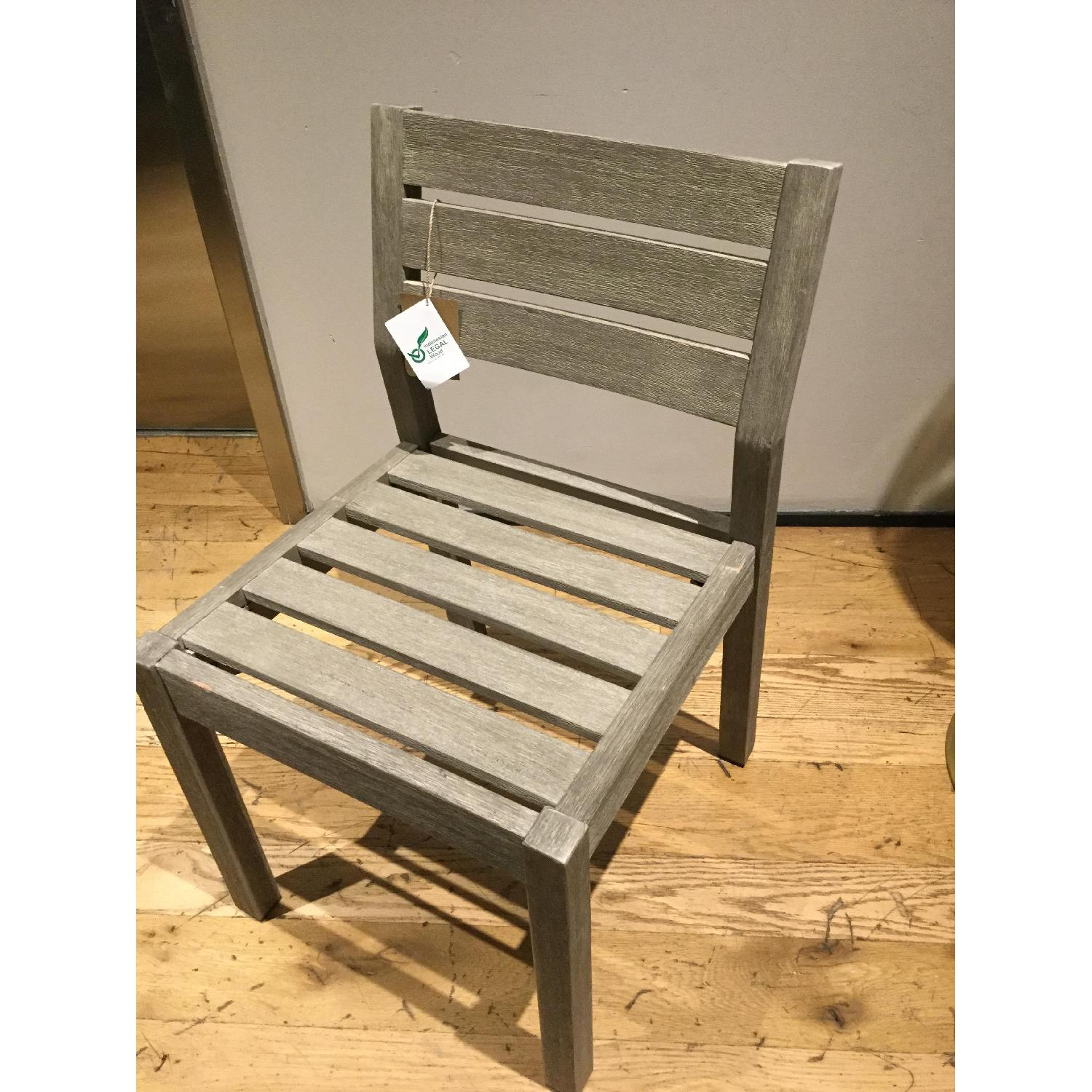 West Elm Portside Dining Chair in Weathered Gray - image-3