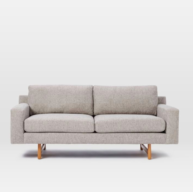 West Elm Feather Gray Eddy Loveseat