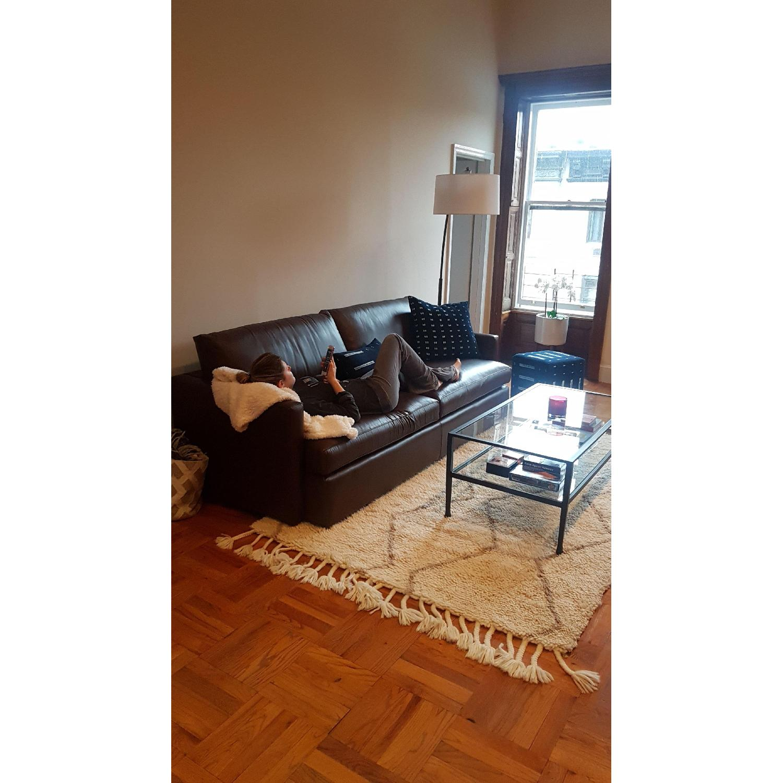 Crate & Barrel Lounge II Leather Sofa - image-2