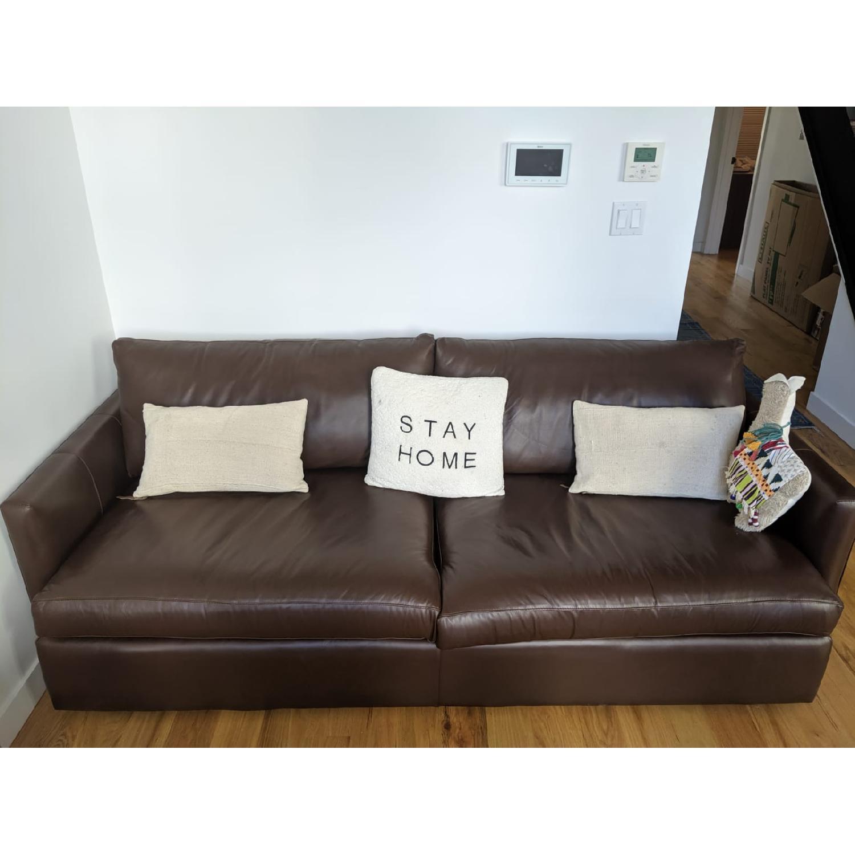 Crate & Barrel Lounge II Leather Sofa - image-5
