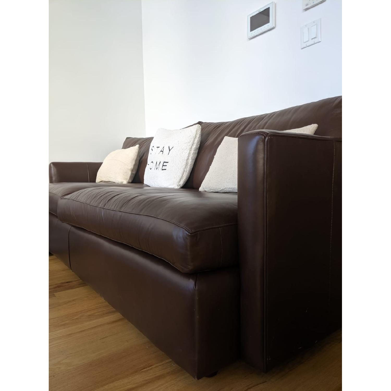 Crate & Barrel Lounge II Leather Sofa - image-6