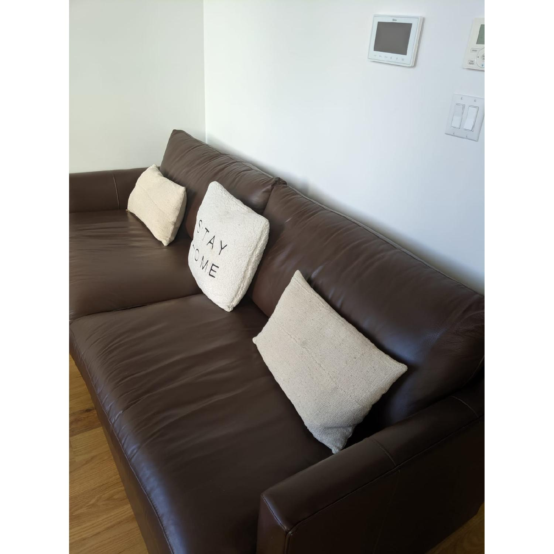 Crate & Barrel Lounge II Leather Sofa - image-7