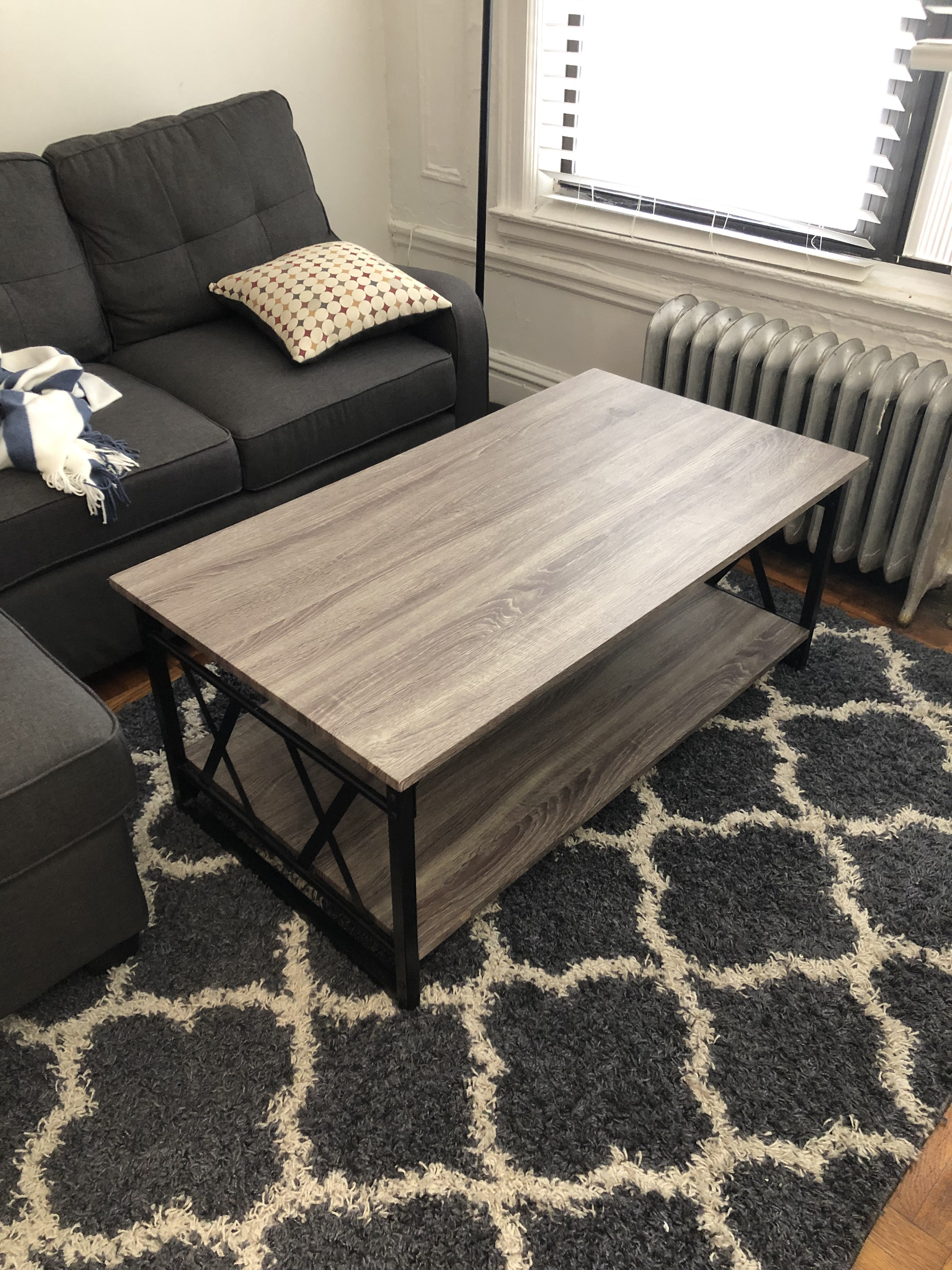 Simple Living Light Gray Coffee Table