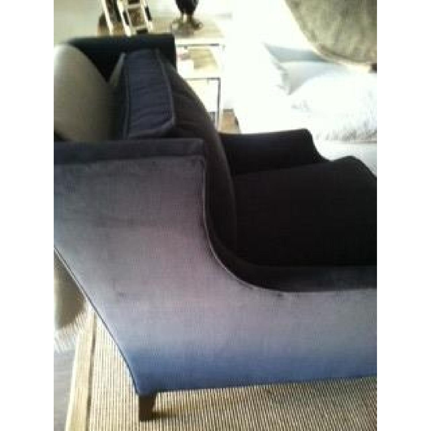 Mitchell Gold + Bob Williams Grey Velvet Chairs - image-1