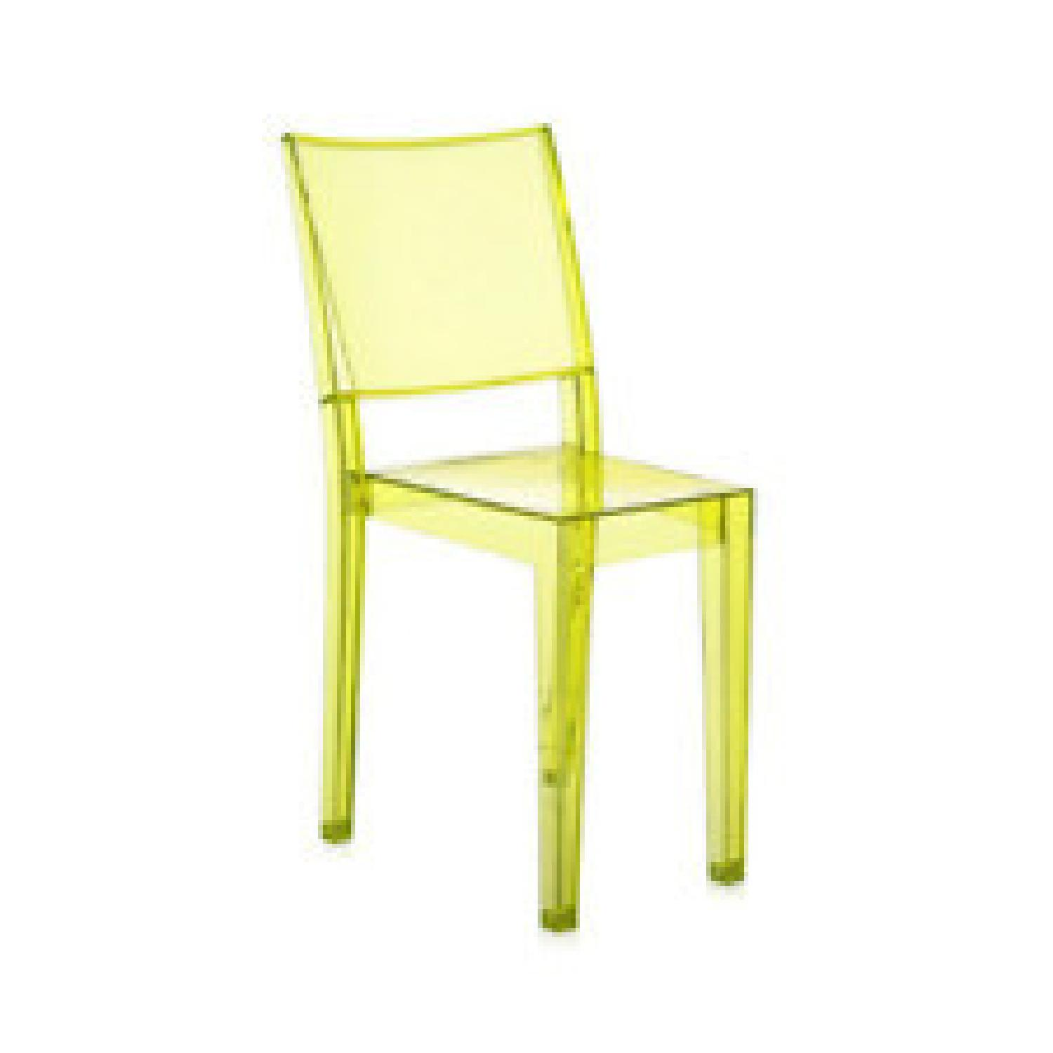 Kartell Green Acrylic Stackable Chairs - image-0
