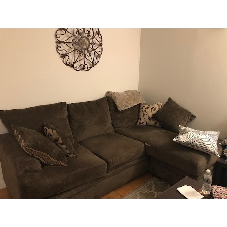 Bob's Miranda Chaise Sectional Sofa in Dark Brown - image-1