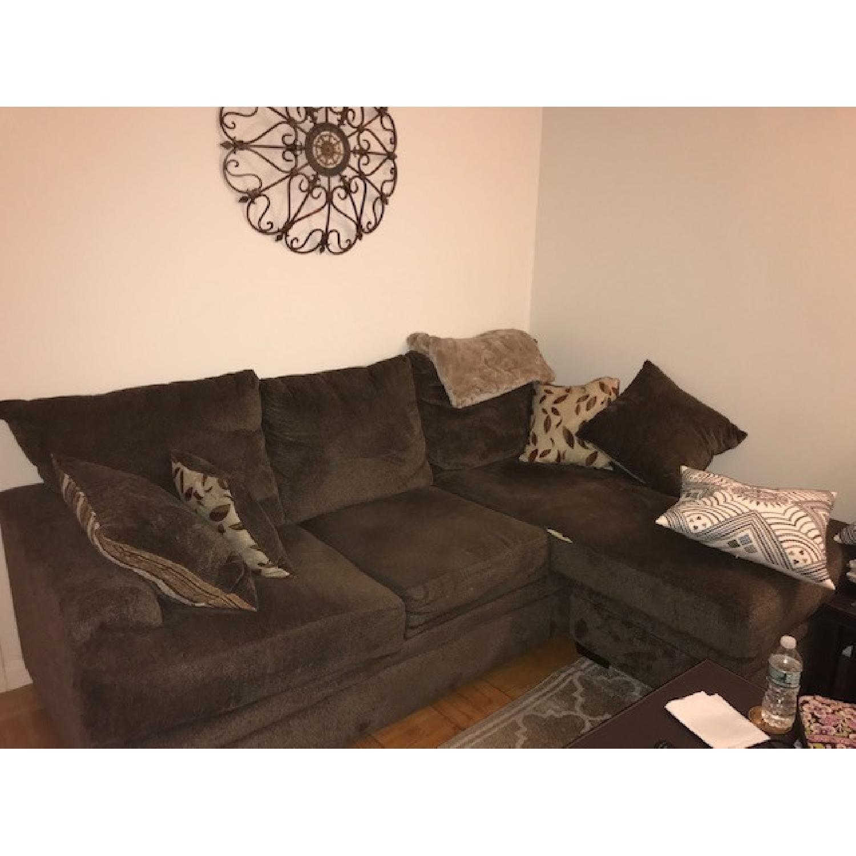 Bob's Miranda Chaise Sectional Sofa in Dark Brown - image-2
