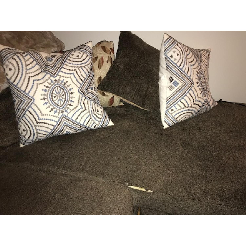 Bob's Miranda Chaise Sectional Sofa in Dark Brown - image-3