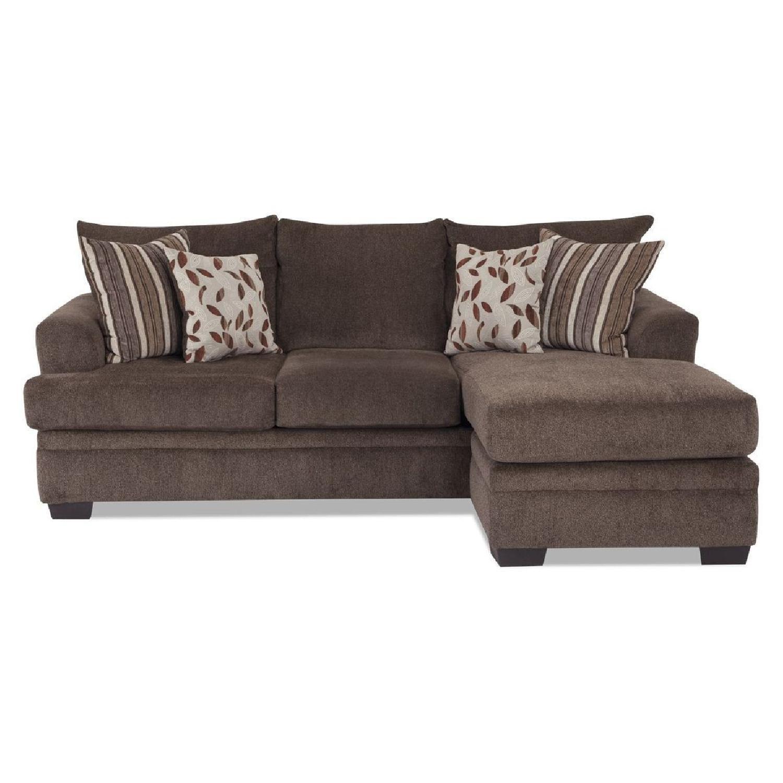 Bob's Miranda Chaise Sectional Sofa in Dark Brown - image-0