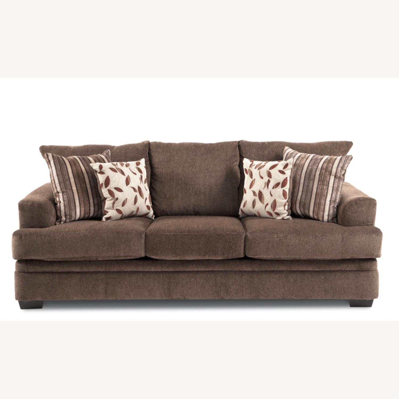 Bob's Miranda Chaise Sectional Sofa in Dark Brown - image-5