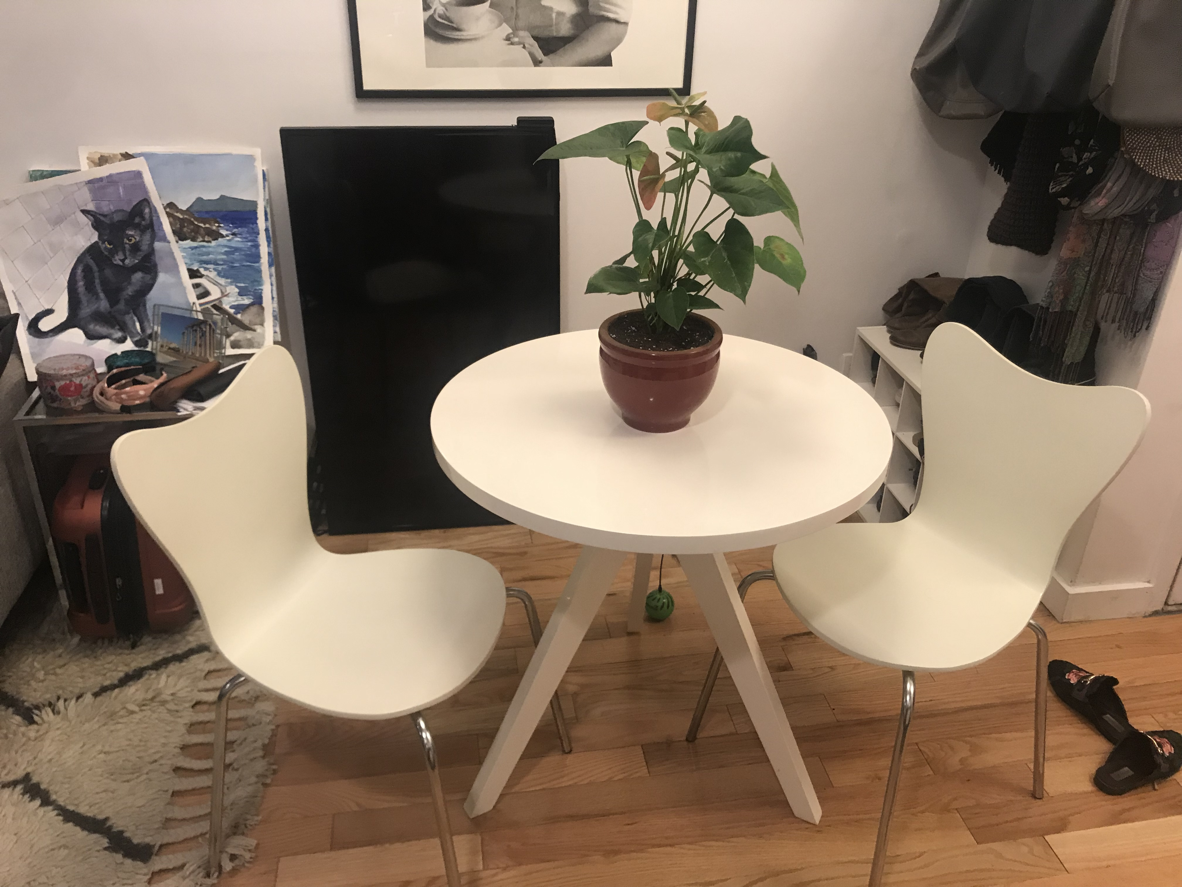 West Elm Dining Table w/ 2 Chairs