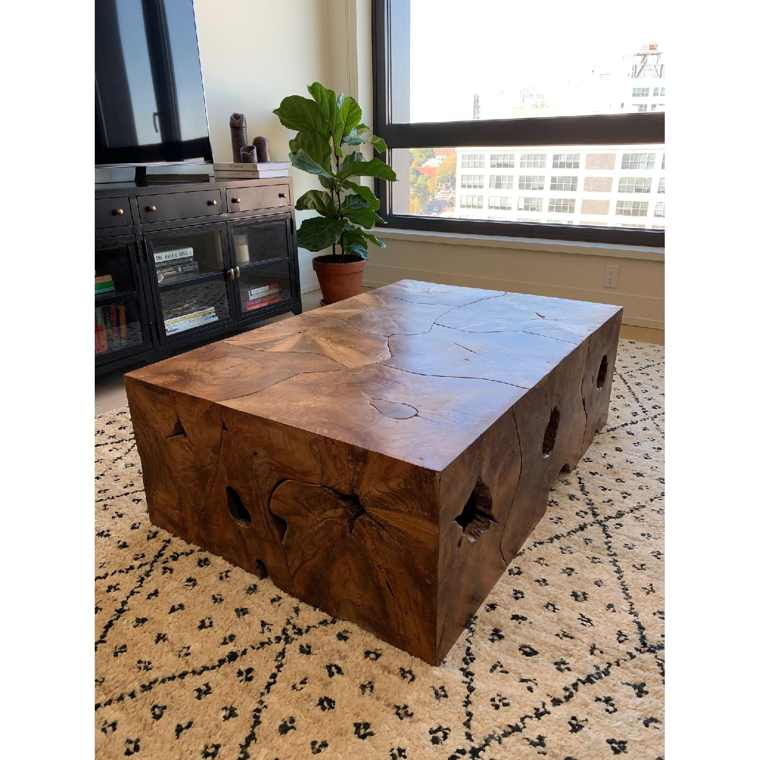 Phillips Collection Teak Slice Coffee Table - image-1