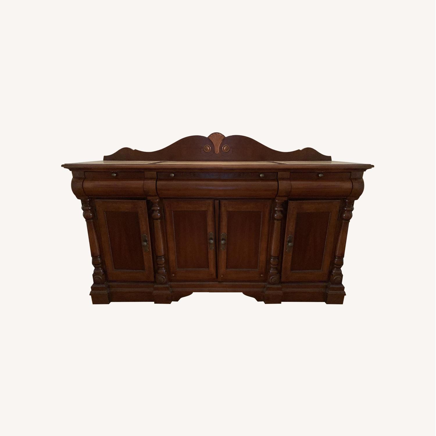 Thomasville Sideboard w/ Marble Top - image-0