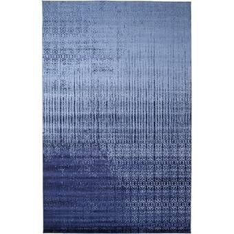 Ebern Designs Dorfman Blue Area Rug