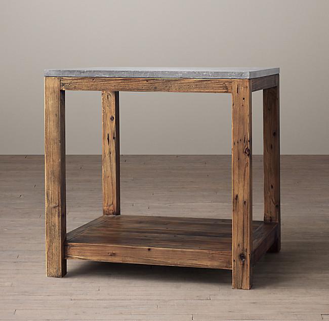 Restoration Hardware Parsons Bluestone Side table