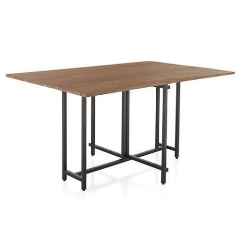 Crate & Barrel Origami Drop Leaf Folding Dining Table