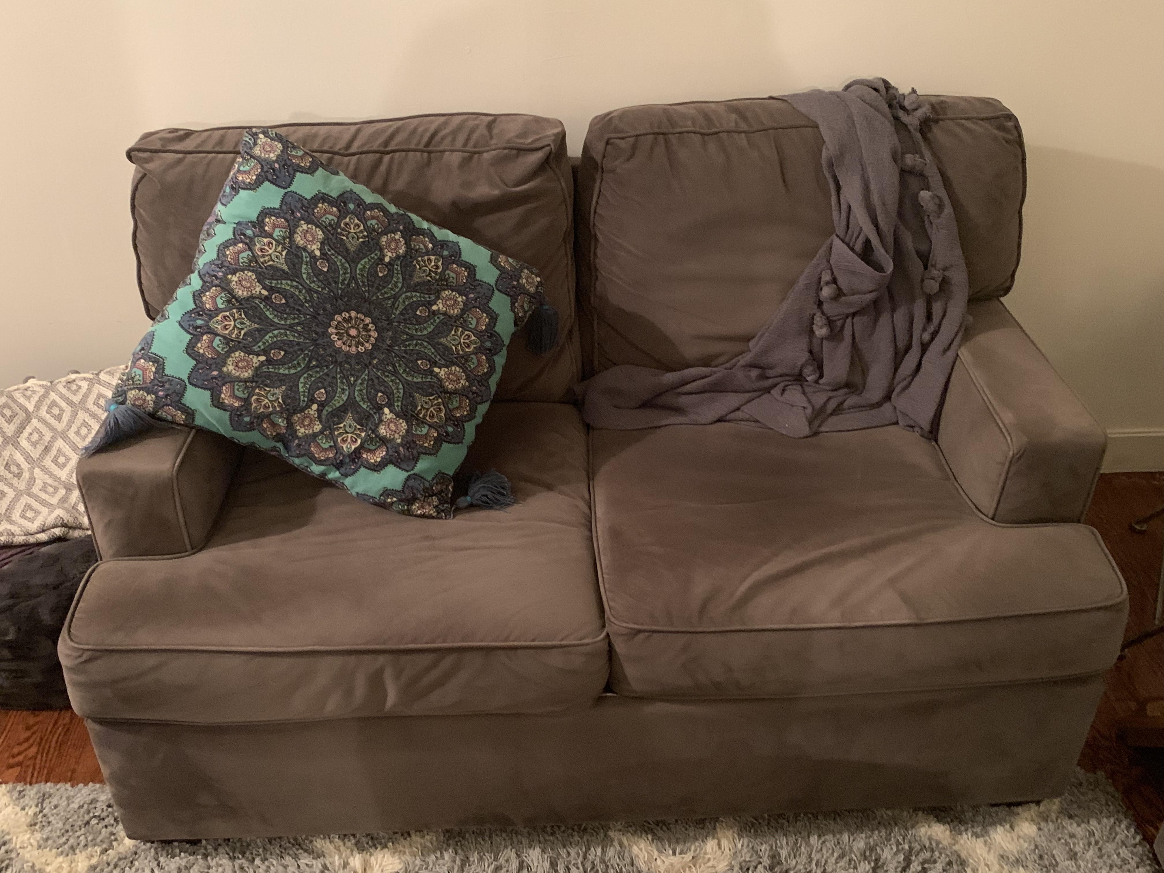 Gray Two Seat Sofa!