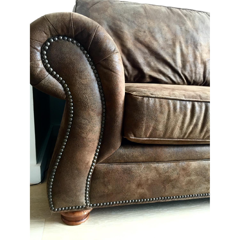 Loon Peak Aticus Microfiber Sleeper Sofa - image-1