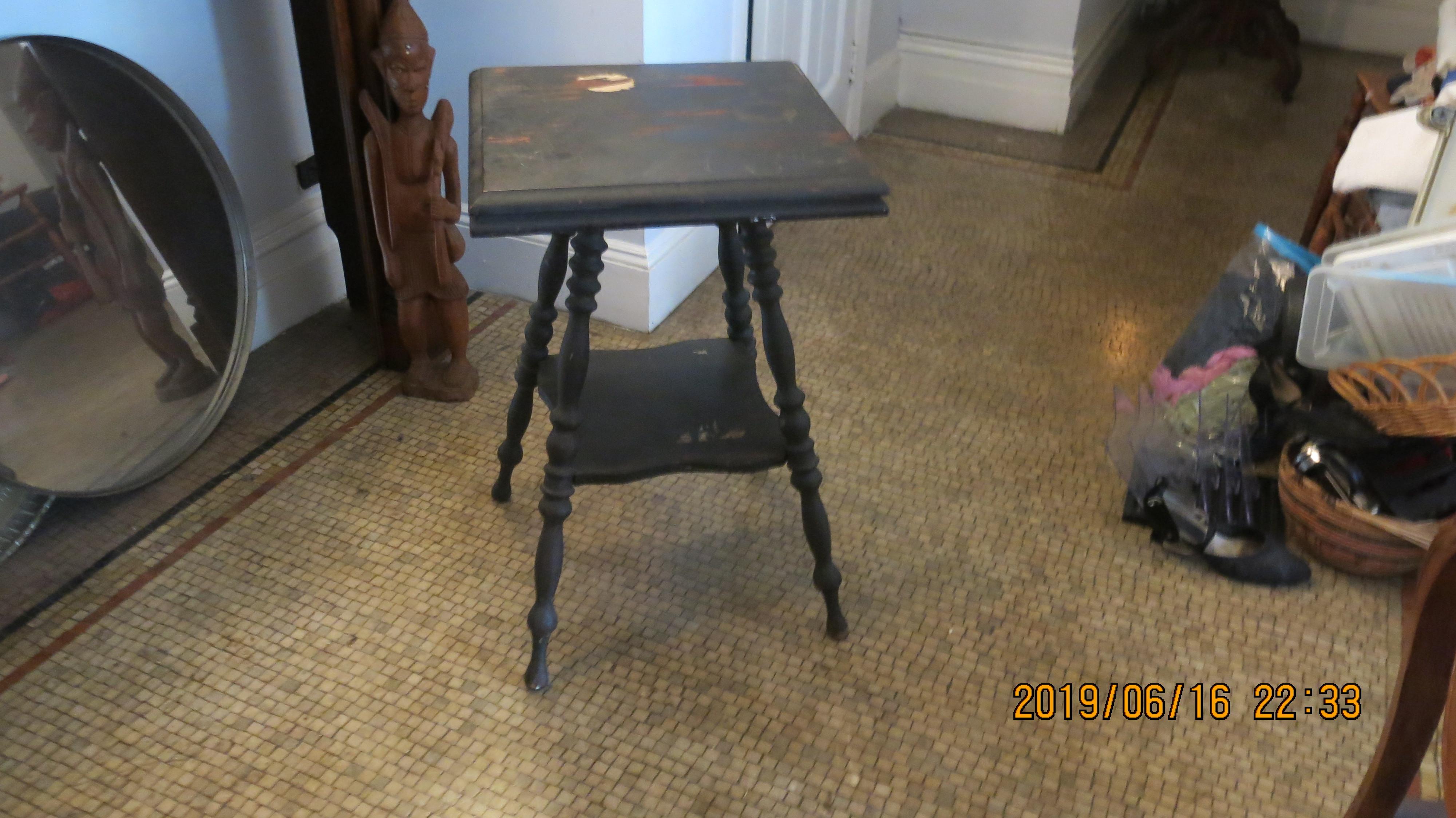Black Wood Side Table