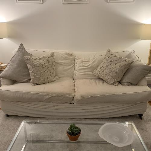 Used Cisco Brothers White Hampshire Sofa for sale on AptDeco