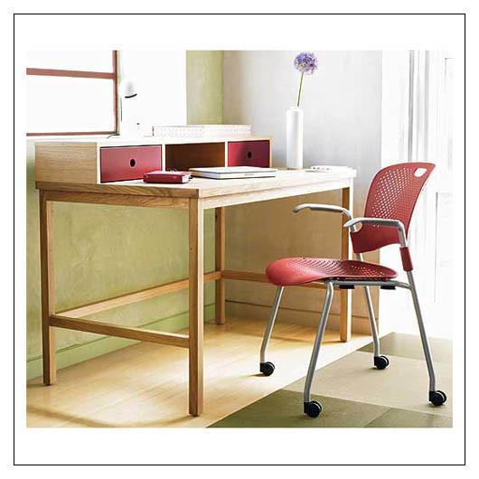 Window Desk w/ Drawers