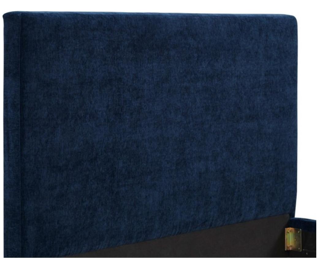 TOV Furniture Delilah Navy Textured Velvet Queen Bed