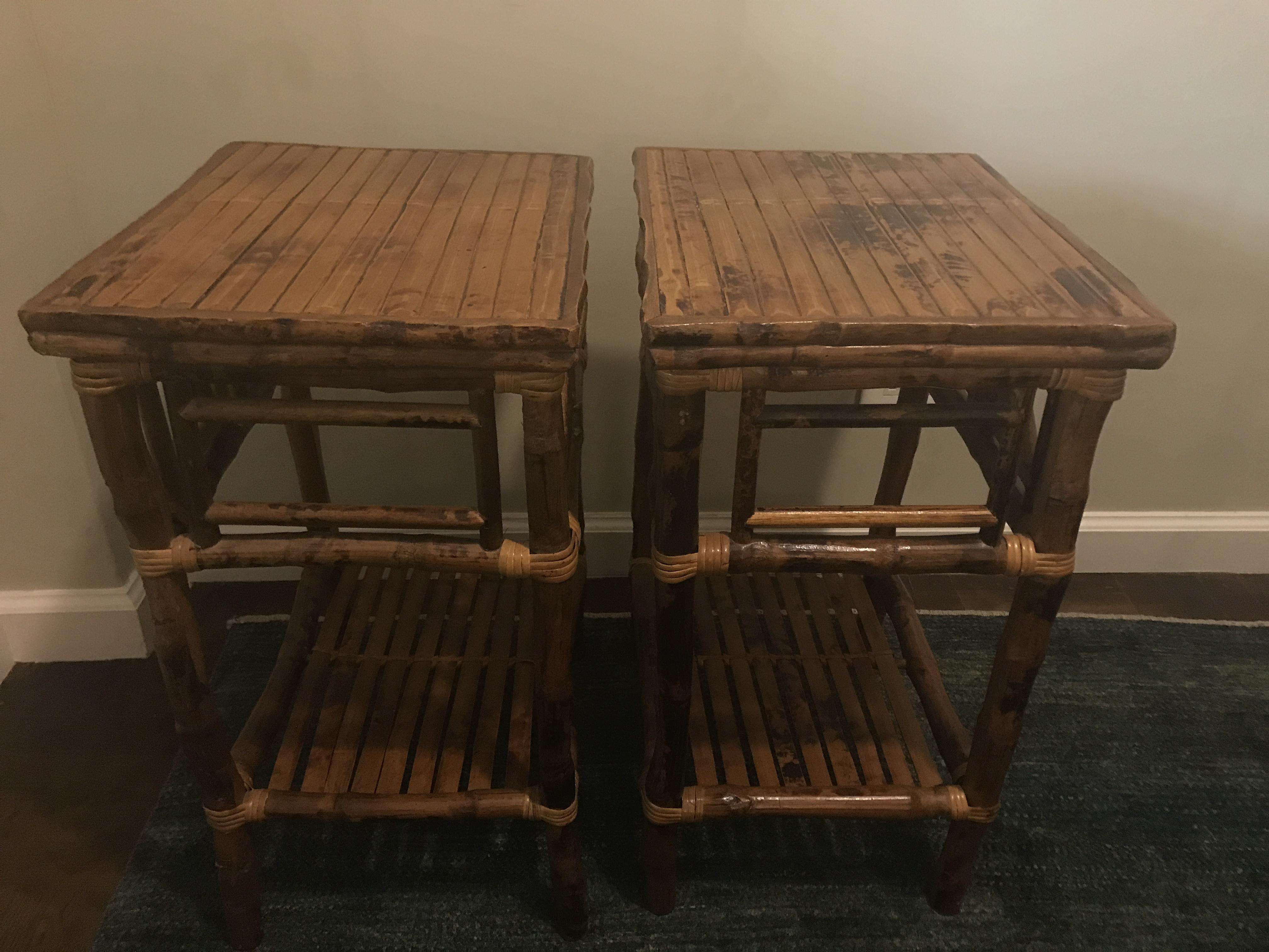 The Company Store Small Rattan Tables