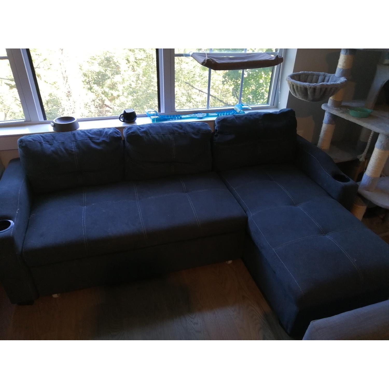 Loya Left Hand Facing Modern Sleeper Sectional Sofa - image-1
