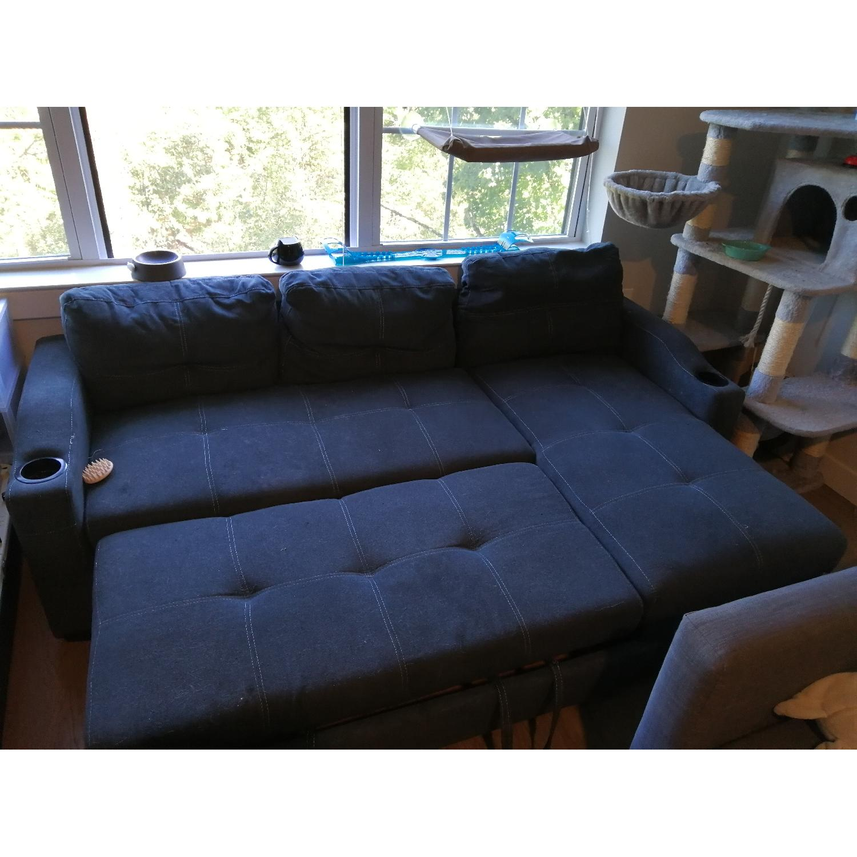 Loya Left Hand Facing Modern Sleeper Sectional Sofa - image-2