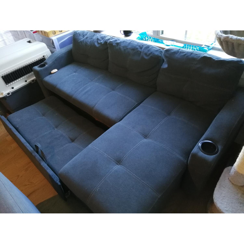 Loya Left Hand Facing Modern Sleeper Sectional Sofa - image-3