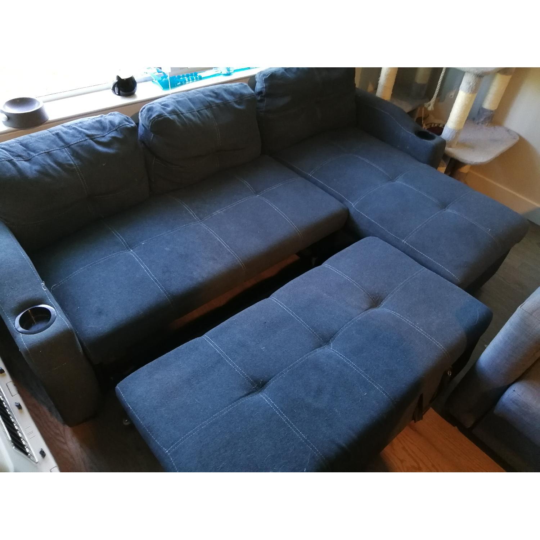 Loya Left Hand Facing Modern Sleeper Sectional Sofa - image-4