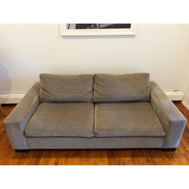 West Elm Olive Green 2-Seater Sofa - image-1