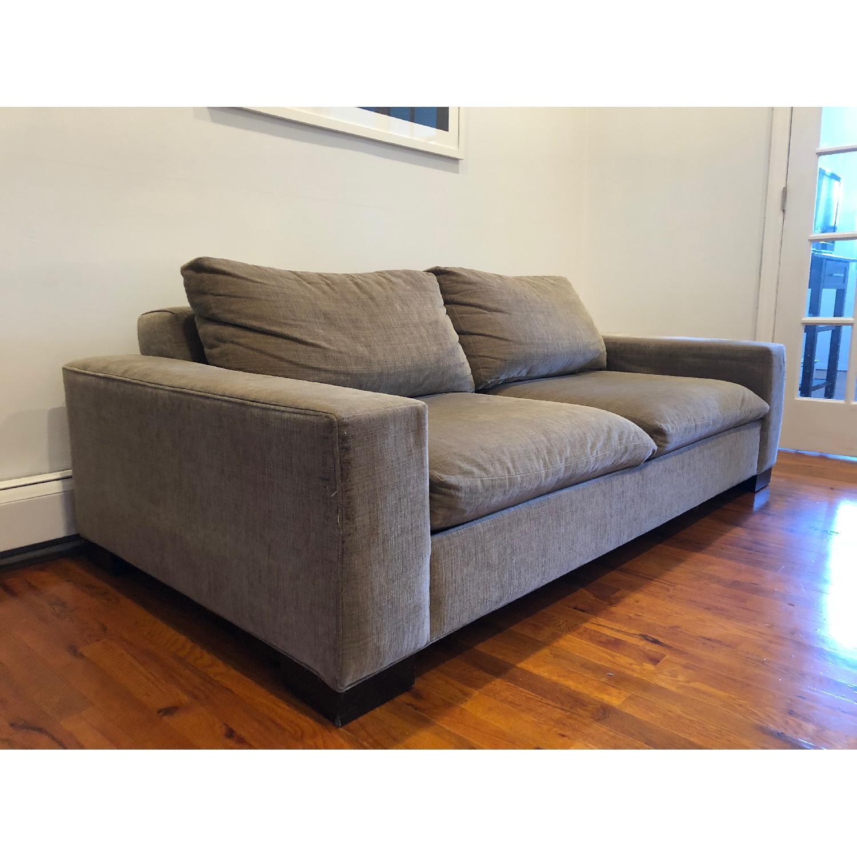 West Elm Olive Green 2-Seater Sofa - image-2