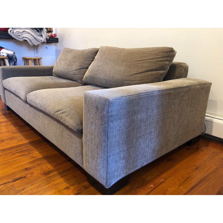 West Elm Olive Green 2-Seater Sofa - image-3