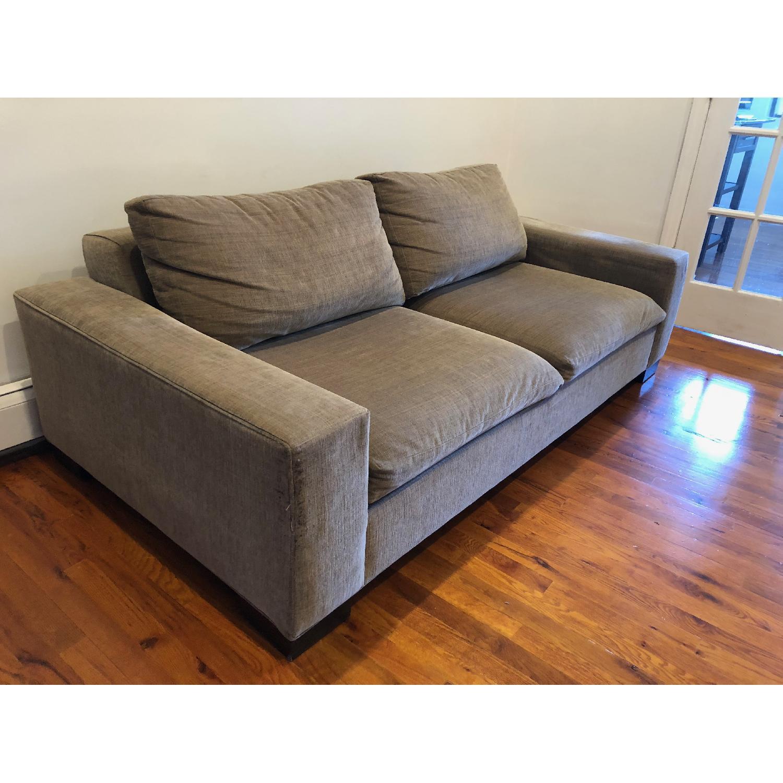 West Elm Olive Green 2-Seater Sofa - image-4