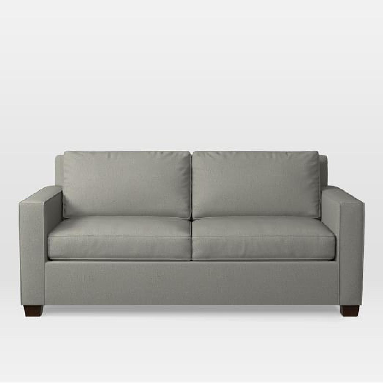 West Elm Olive Green 2-Seater Sofa - image-0