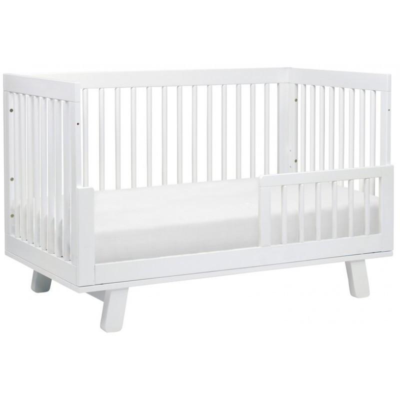 Hudson 3-in-1 Convertible Crib in White
