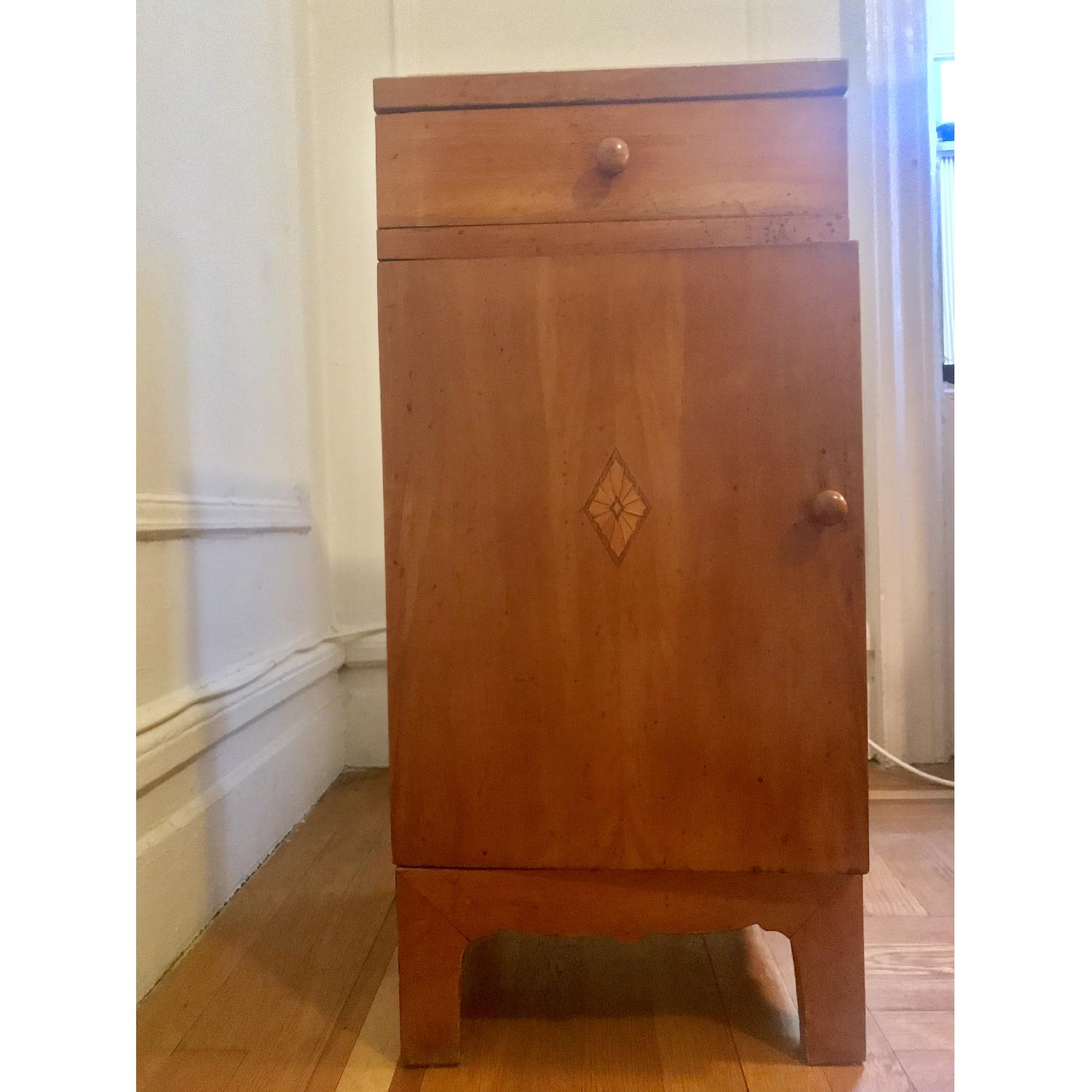 Early 20th C. Danish Pearwood Nightstands - image-1