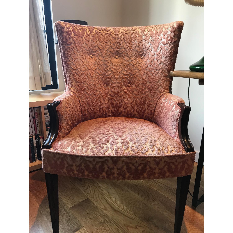 Vintage Rose Velvet & Brocade Lounge Chairs - image-2