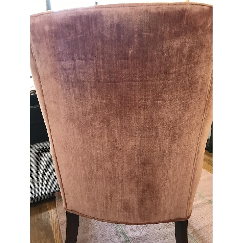 Vintage Rose Velvet & Brocade Lounge Chairs - image-8