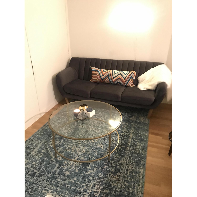 Urban Outfitters Mid Century Dark Grey Sofa - image-1