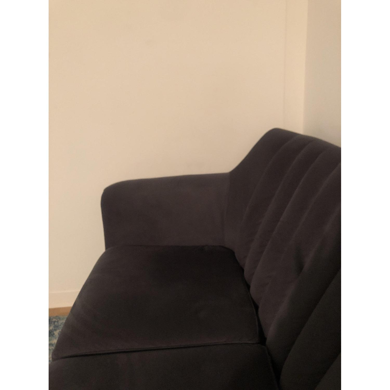 Urban Outfitters Mid Century Dark Grey Sofa - image-3
