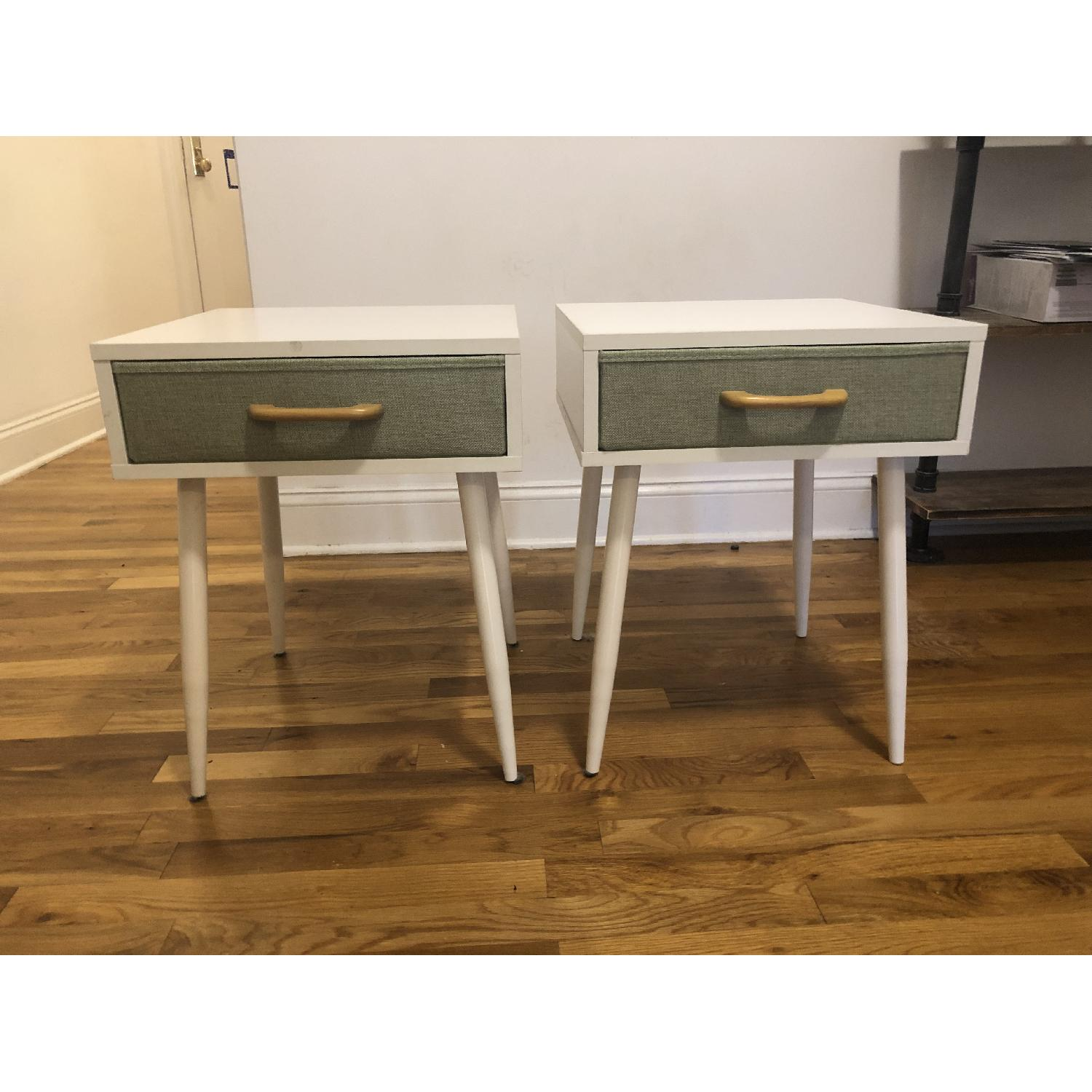 White & Green Nightstands - image-1