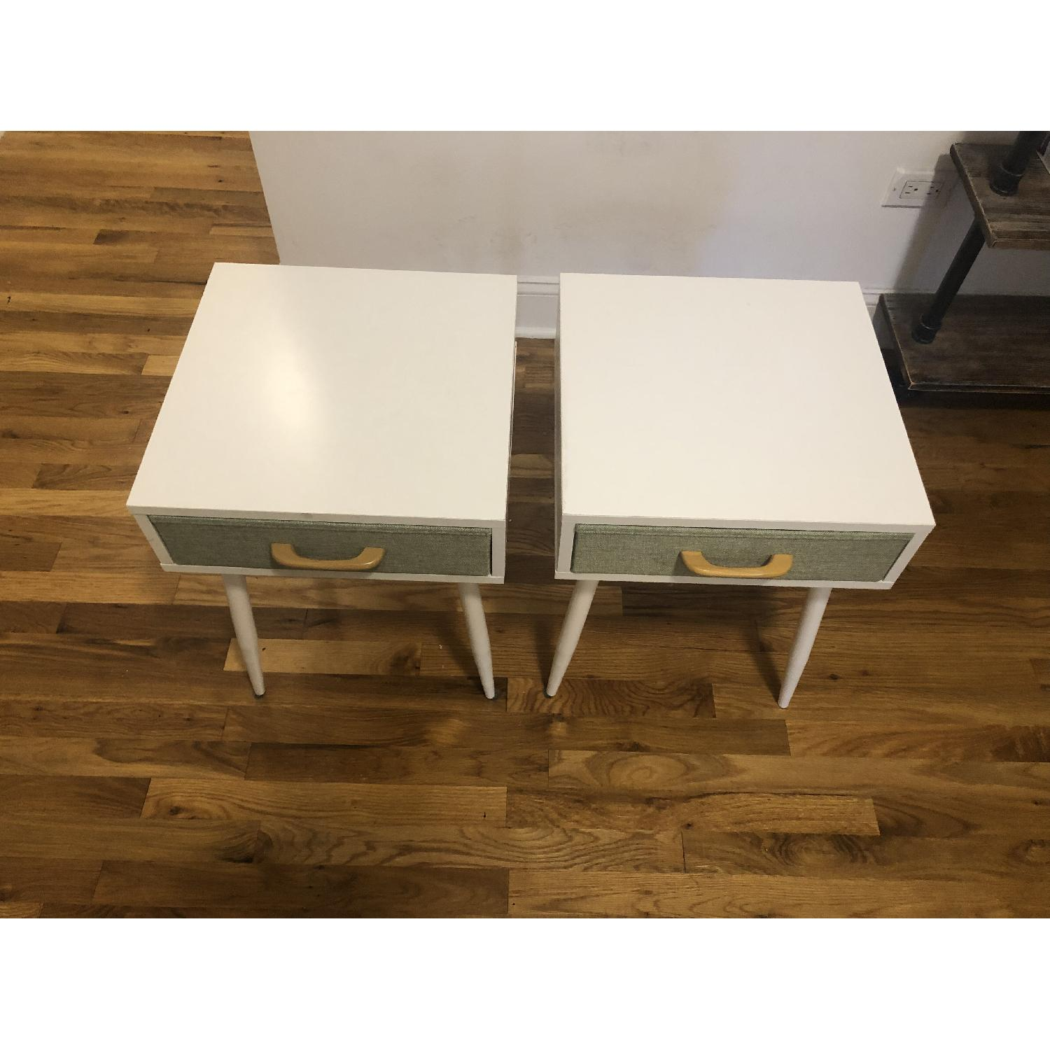White & Green Nightstands - image-2