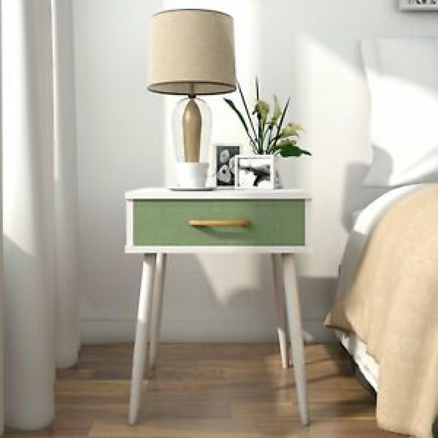 White & Green Nightstands - image-6