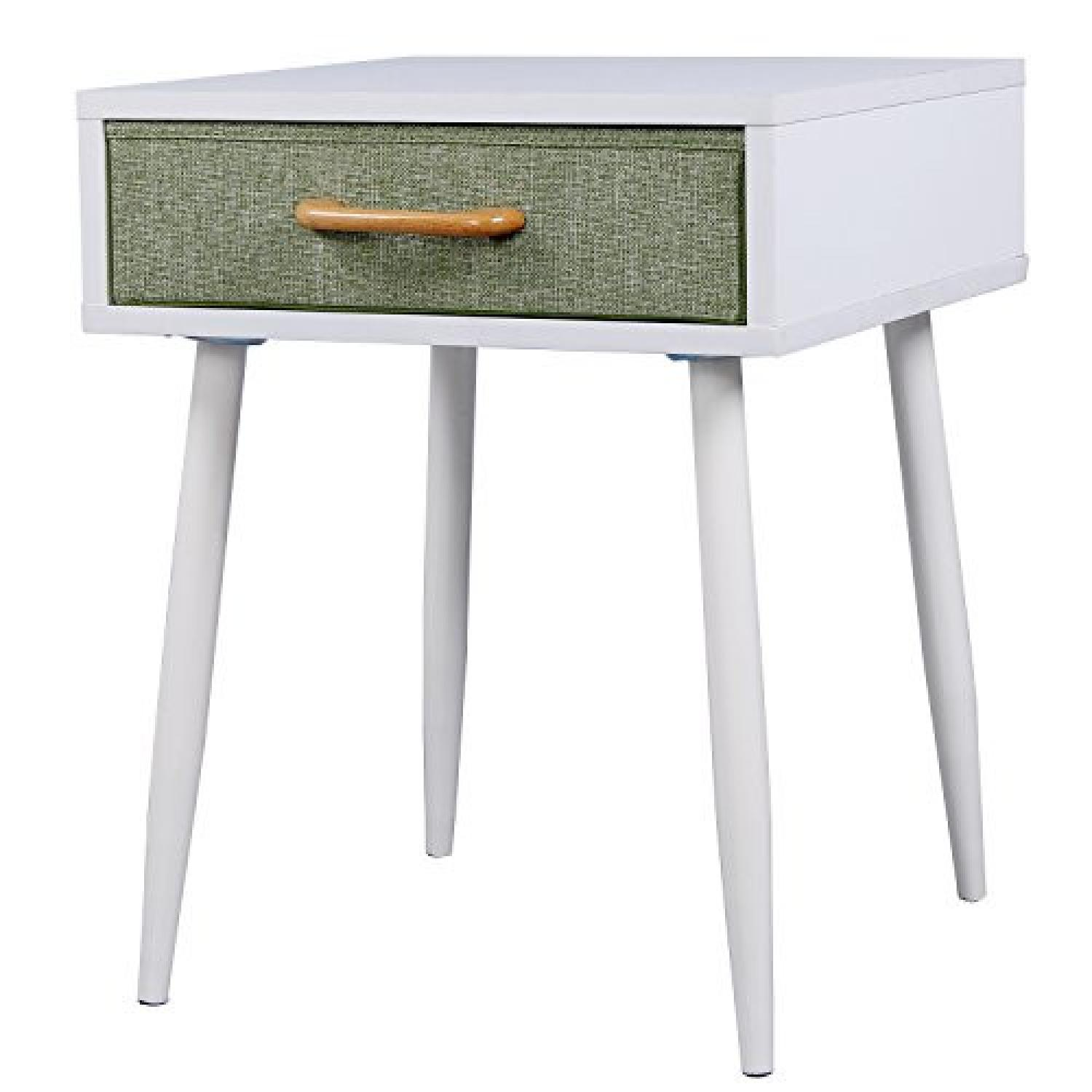 White & Green Nightstands - image-0