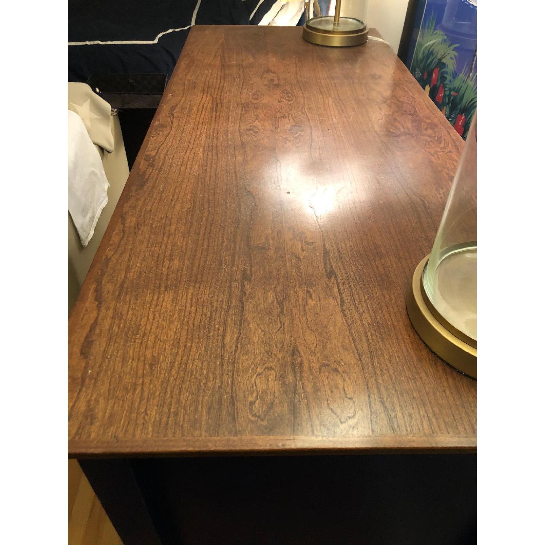 Custom Large Navy Blue Dark Wood Stained Dresser - image-5