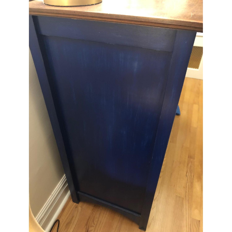 Custom Large Navy Blue Dark Wood Stained Dresser - image-7
