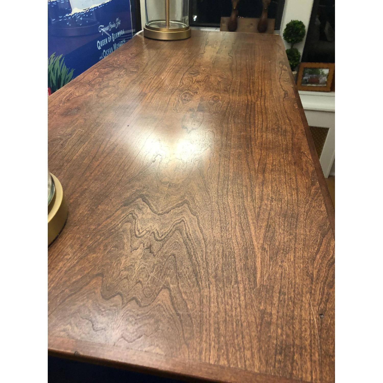 Custom Large Navy Blue Dark Wood Stained Dresser - image-8